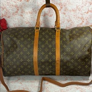 Authentic Louis Vuitton Monogram Keepall 45 Bag